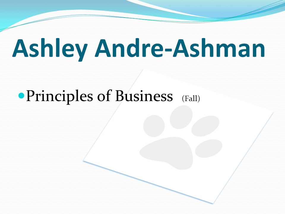 Ashley Andre-Ashman Principles of Business (Fall)