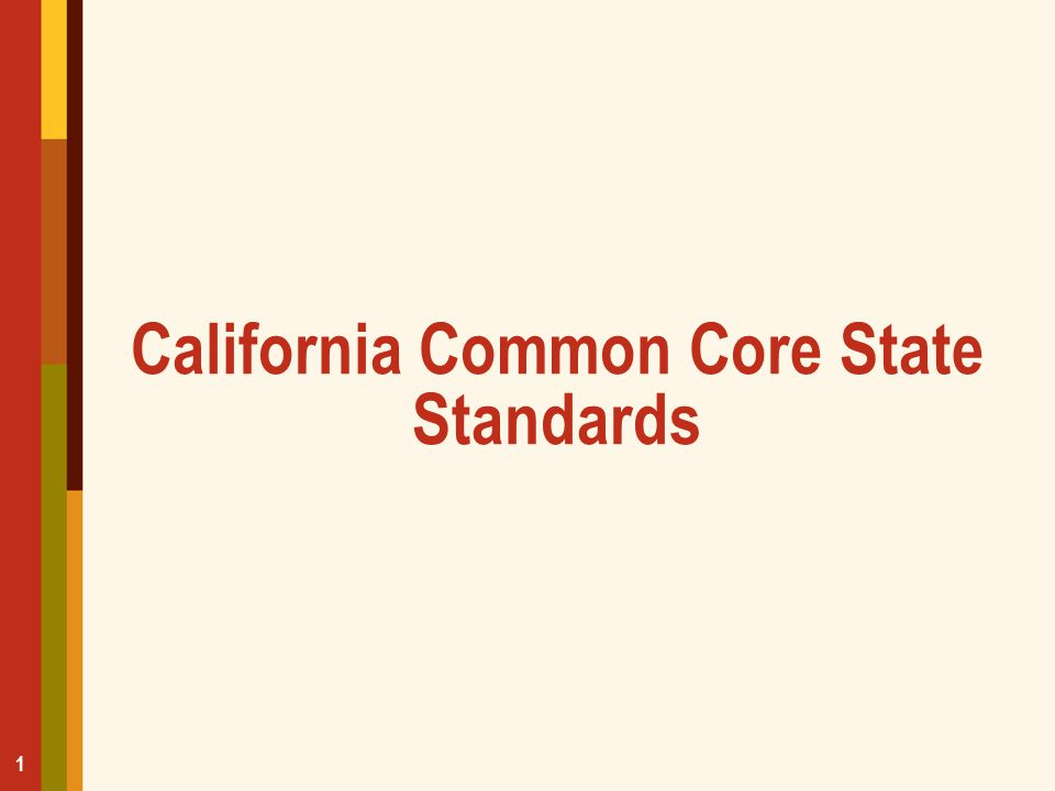 California Common Core State Standards