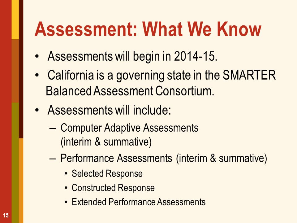Assessment: What We Know