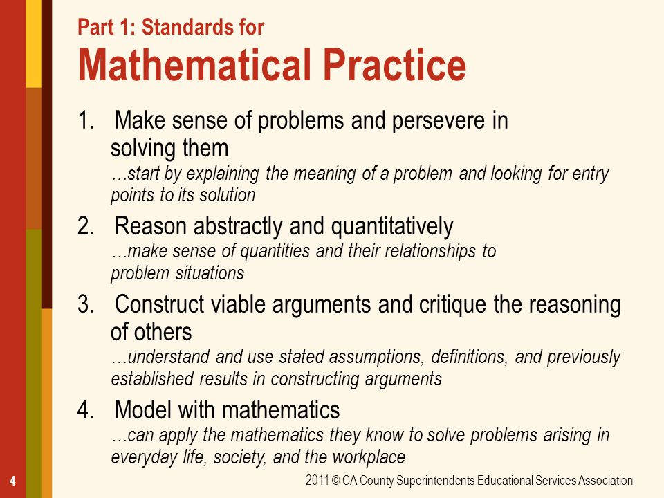 Part 1: Standards for Mathematical Practice