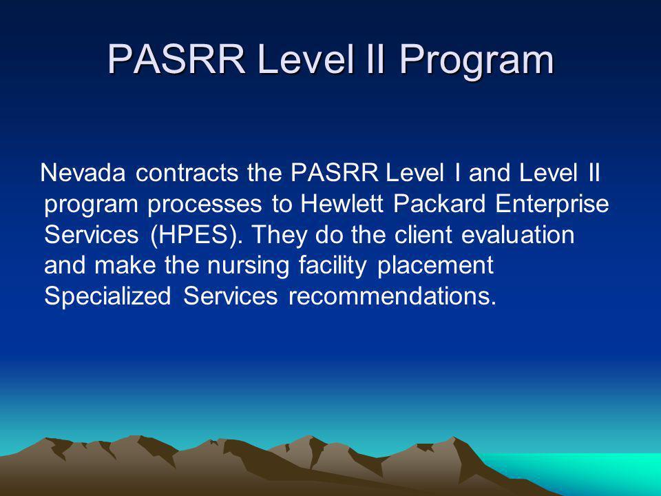 PASRR Level II Program