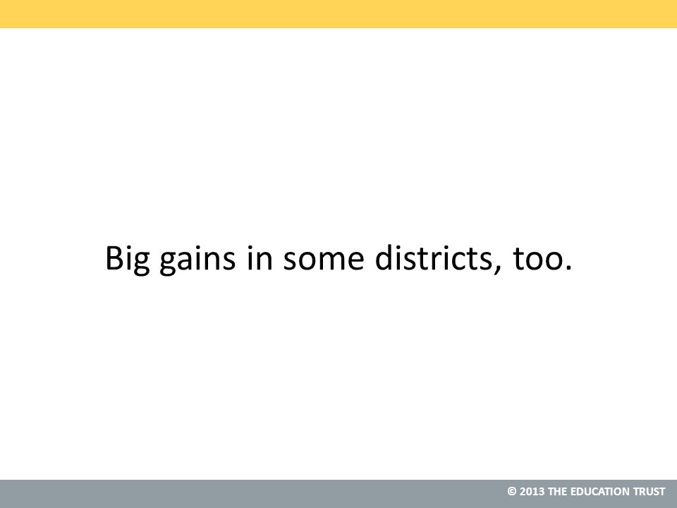Big gains in some districts, too.