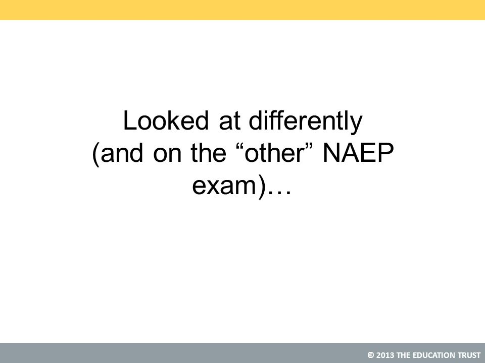 Looked at differently (and on the other NAEP exam)…