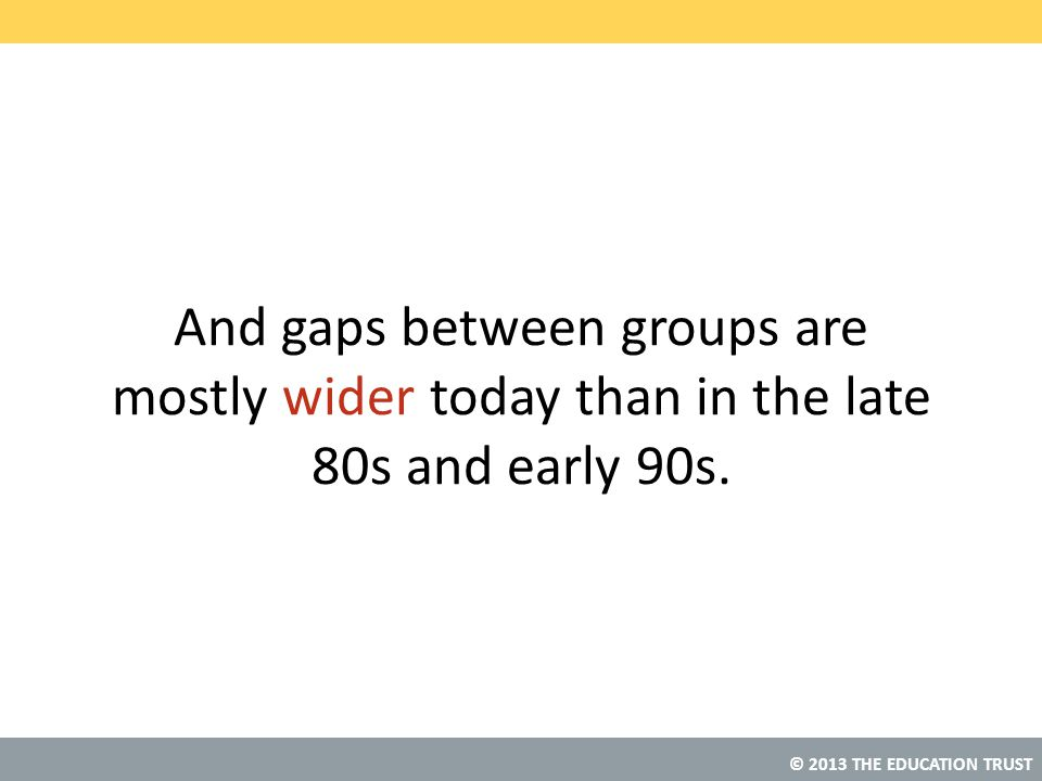 And gaps between groups are mostly wider today than in the late 80s and early 90s.