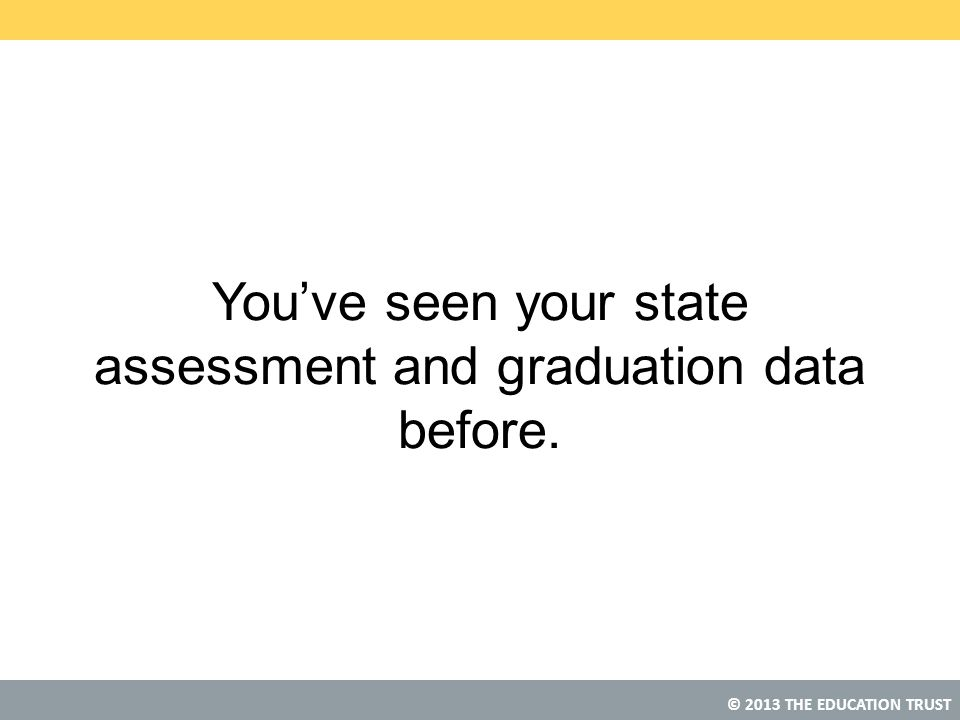 You've seen your state assessment and graduation data before.