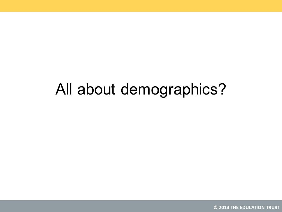 All about demographics