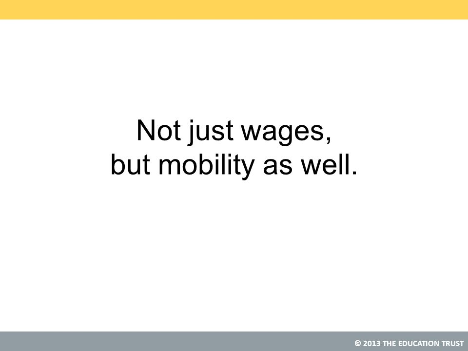 Not just wages, but mobility as well.