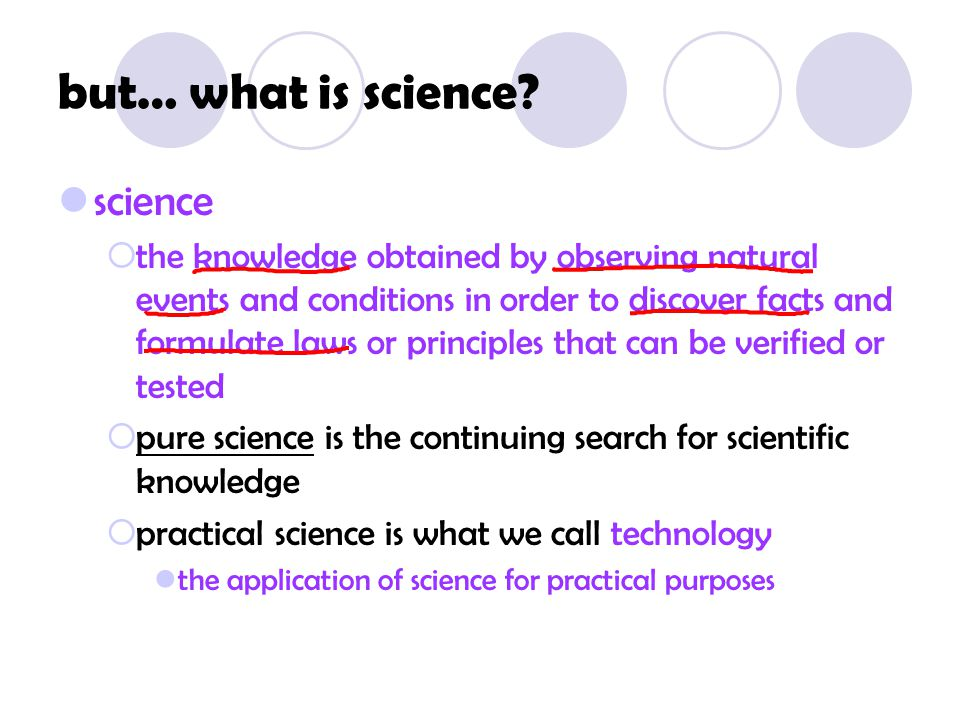 but… what is science science