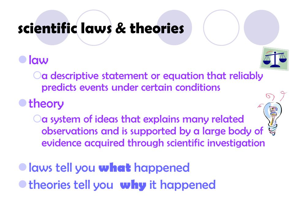 scientific laws & theories