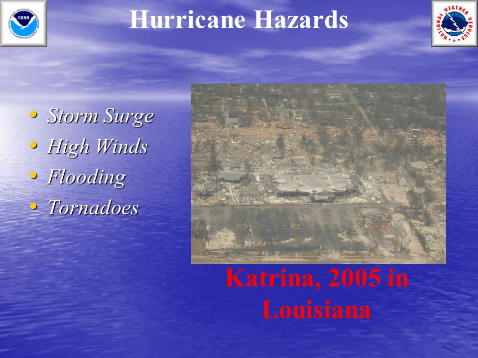 Hurricane Hazards Katrina, 2005 in Louisiana