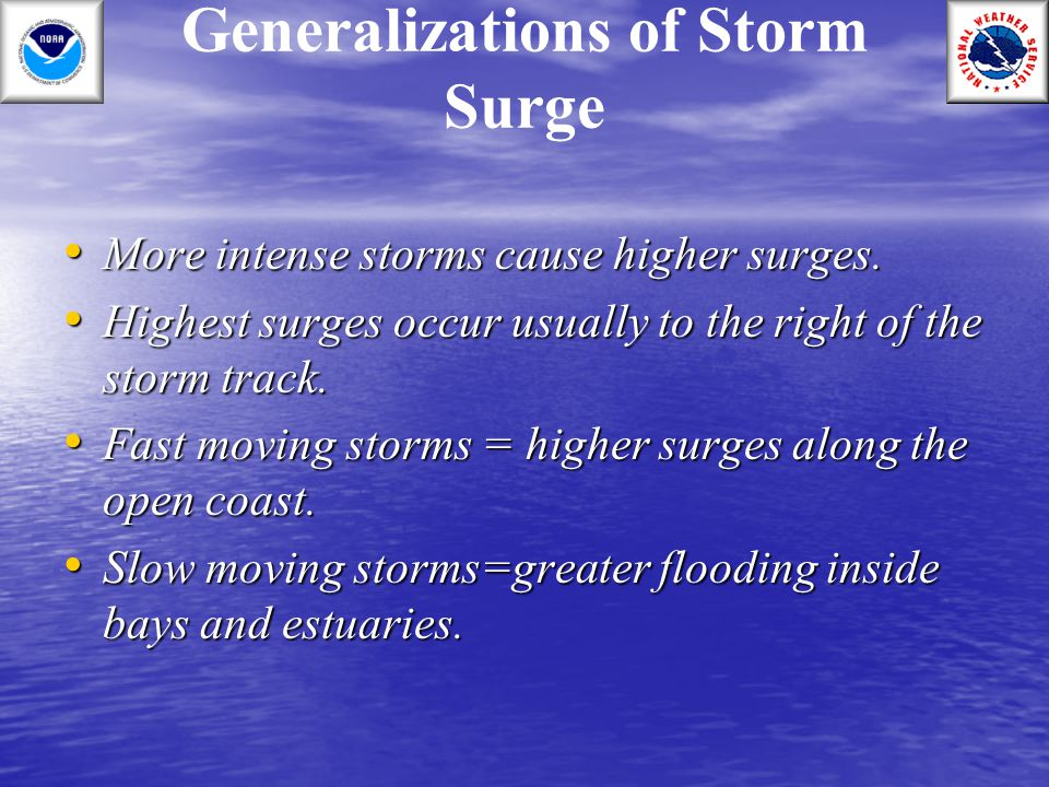 Generalizations of Storm Surge