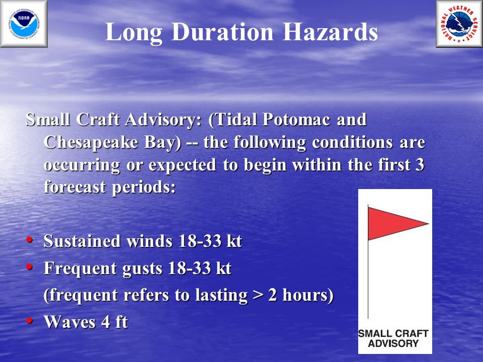 Long Duration Hazards