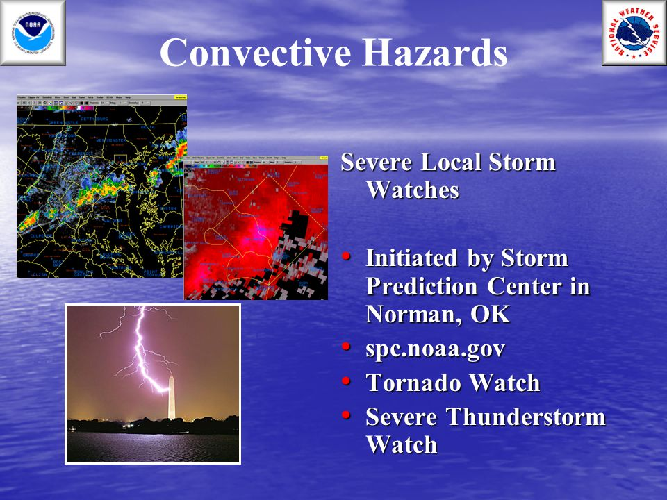 Convective Hazards Severe Local Storm Watches