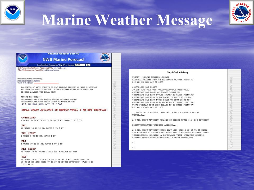 Marine Weather Message