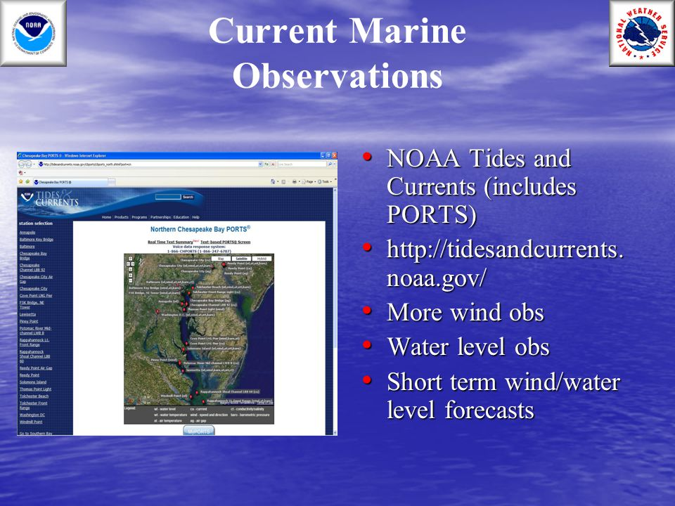 Current Marine Observations