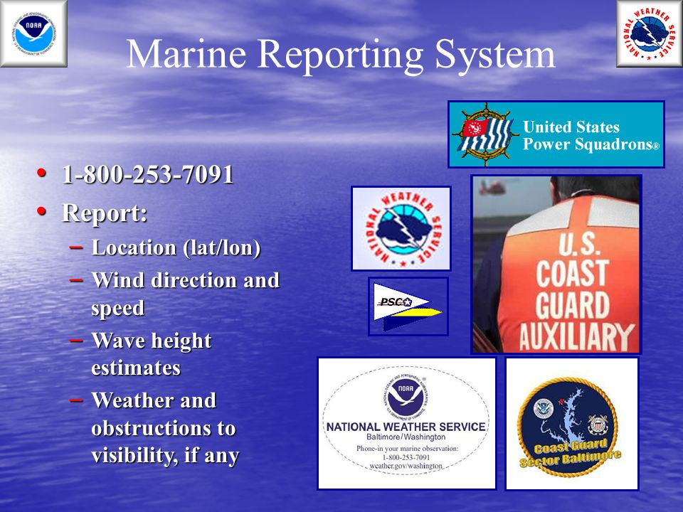 Marine Reporting System