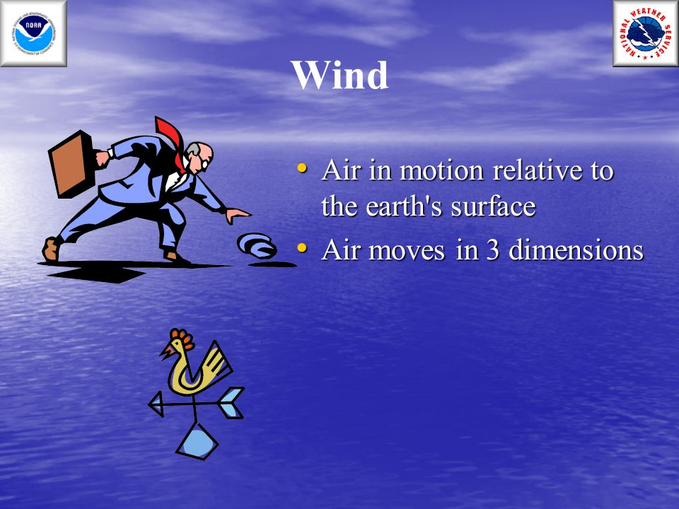 Wind Air in motion relative to the earth s surface