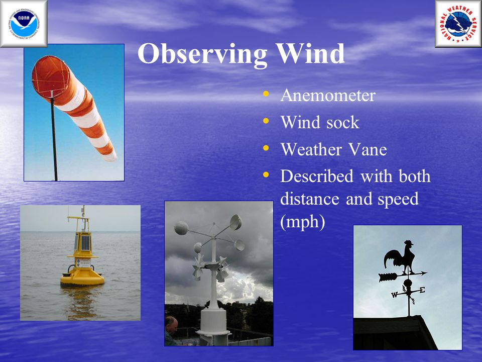 Observing Wind Anemometer Wind sock Weather Vane