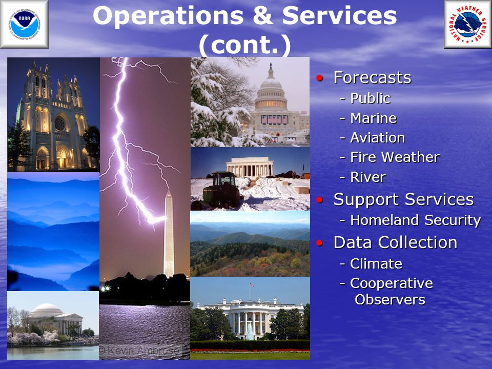 Operations & Services (cont.)