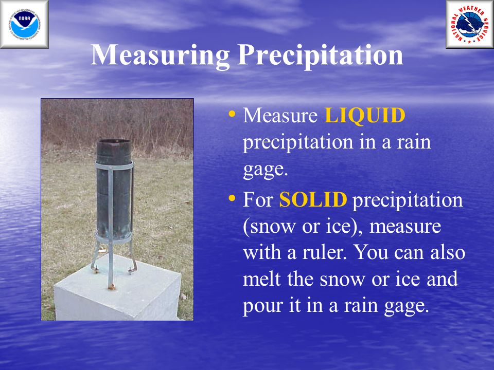 Measuring Precipitation