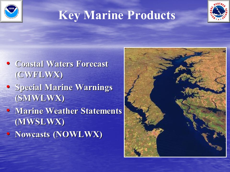 Key Marine Products Coastal Waters Forecast (CWFLWX)