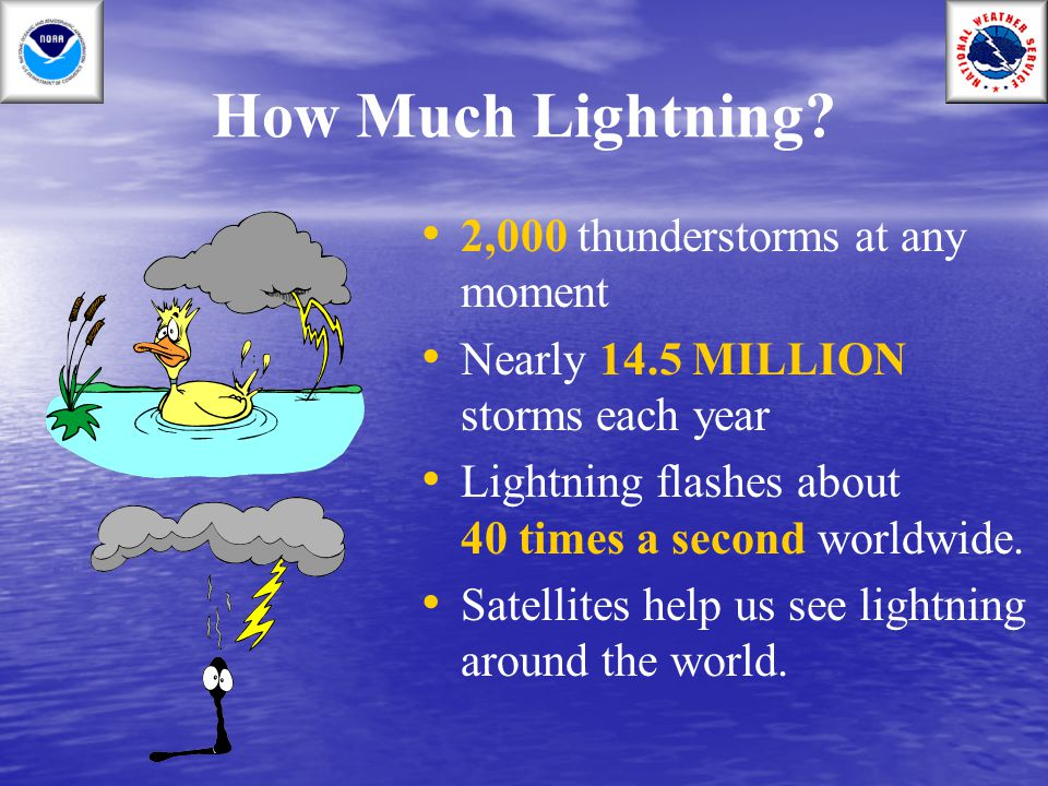 How Much Lightning 2,000 thunderstorms at any moment