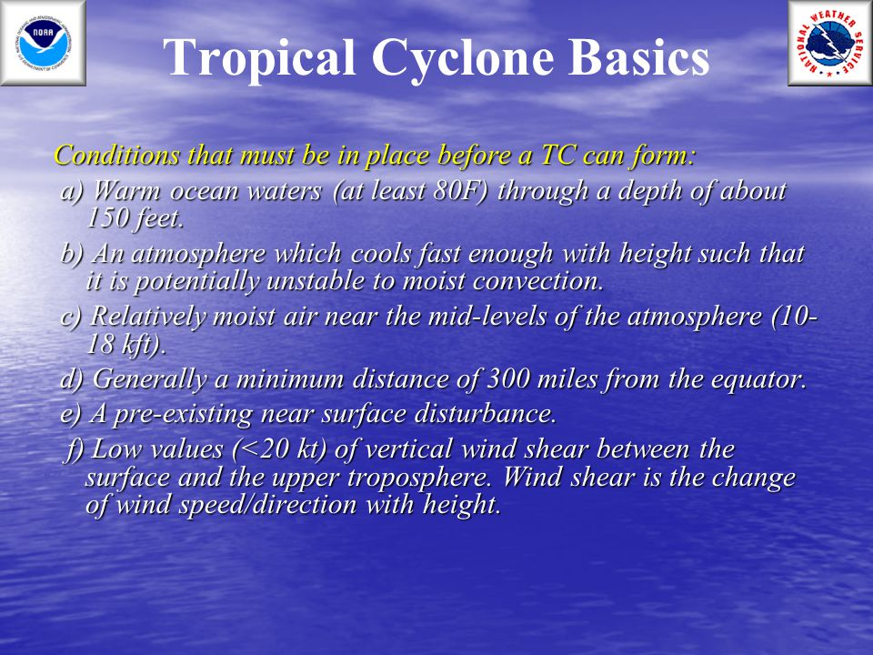 Tropical Cyclone Basics