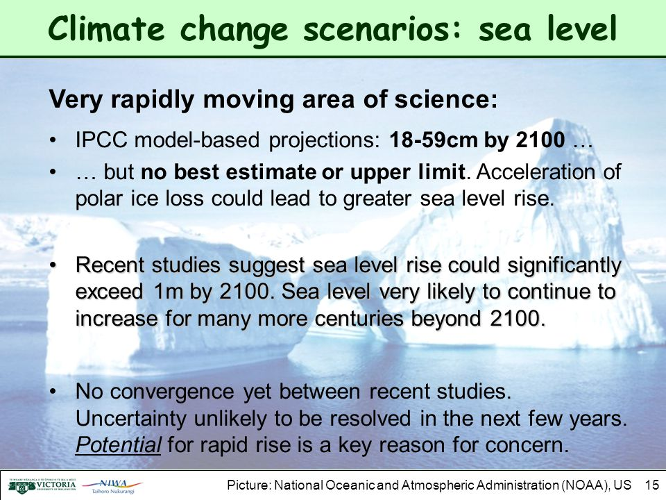 Climate change scenarios: sea level