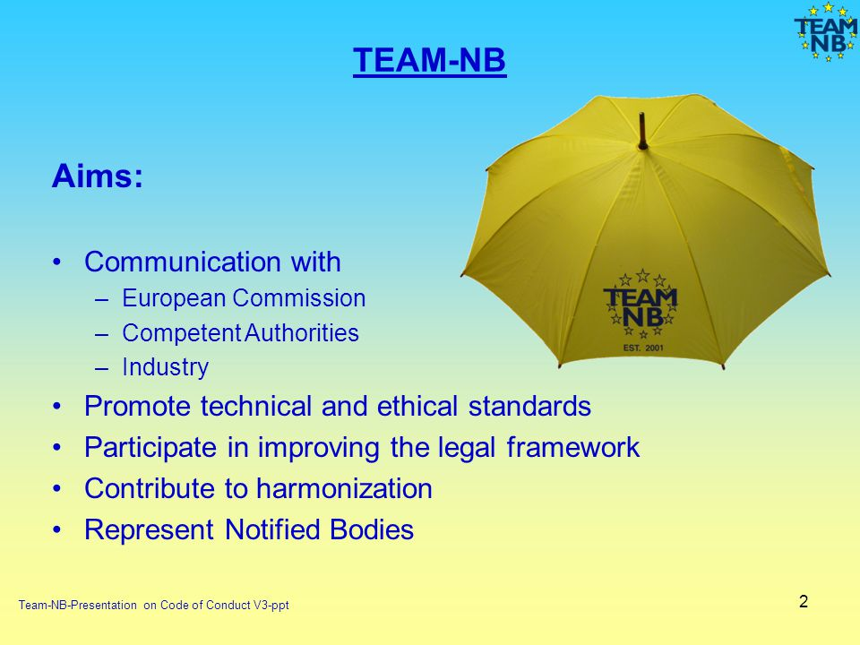 TEAM-NB Aims: Communication with