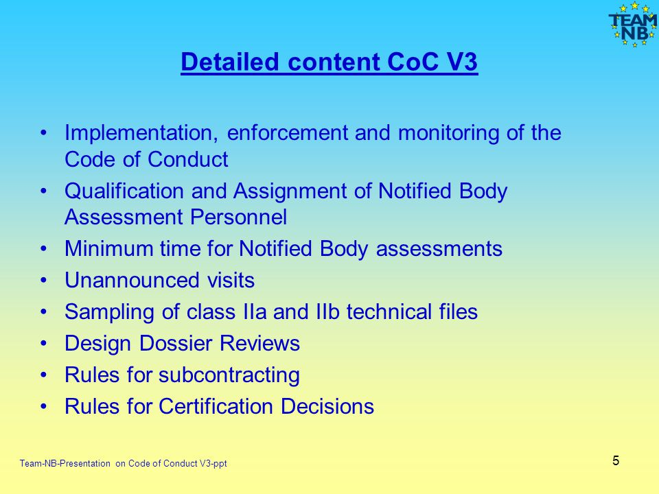 Detailed content CoC V3 Implementation, enforcement and monitoring of the Code of Conduct.