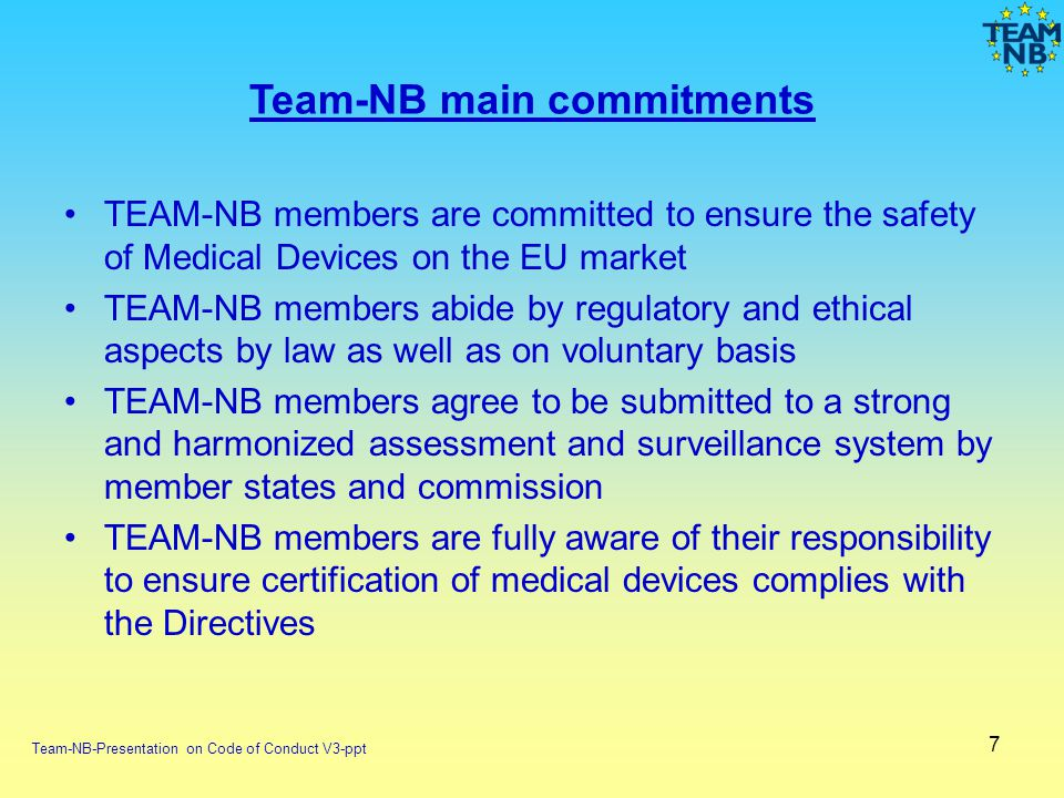 Team-NB main commitments