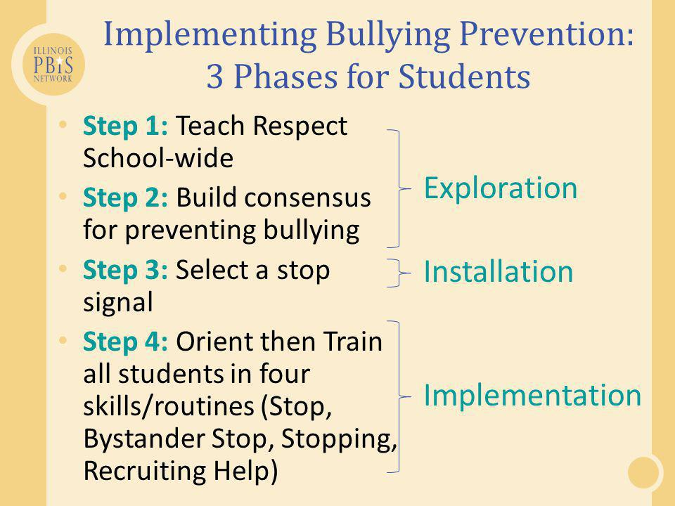 Implementing Bullying Prevention: 3 Phases for Students