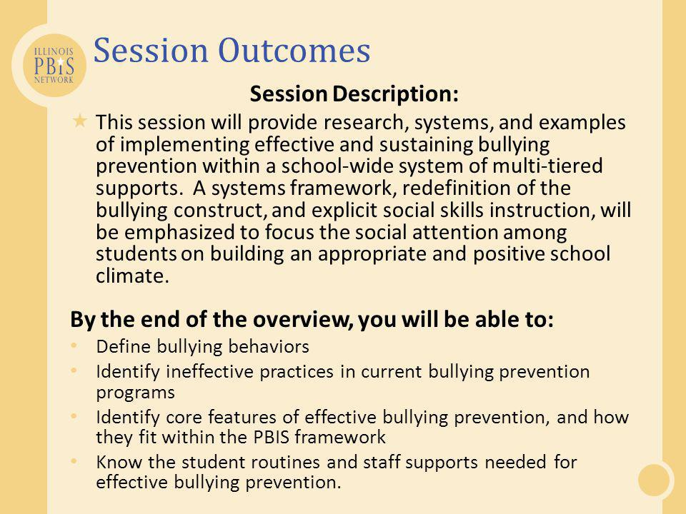 Session Outcomes Session Description: