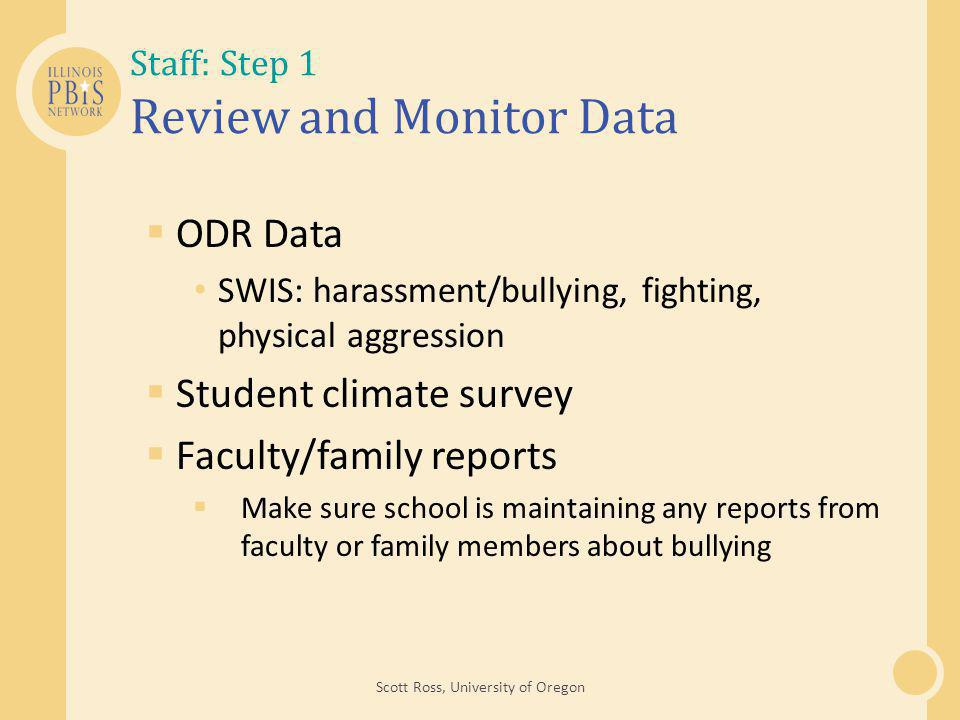 Staff: Step 1 Review and Monitor Data