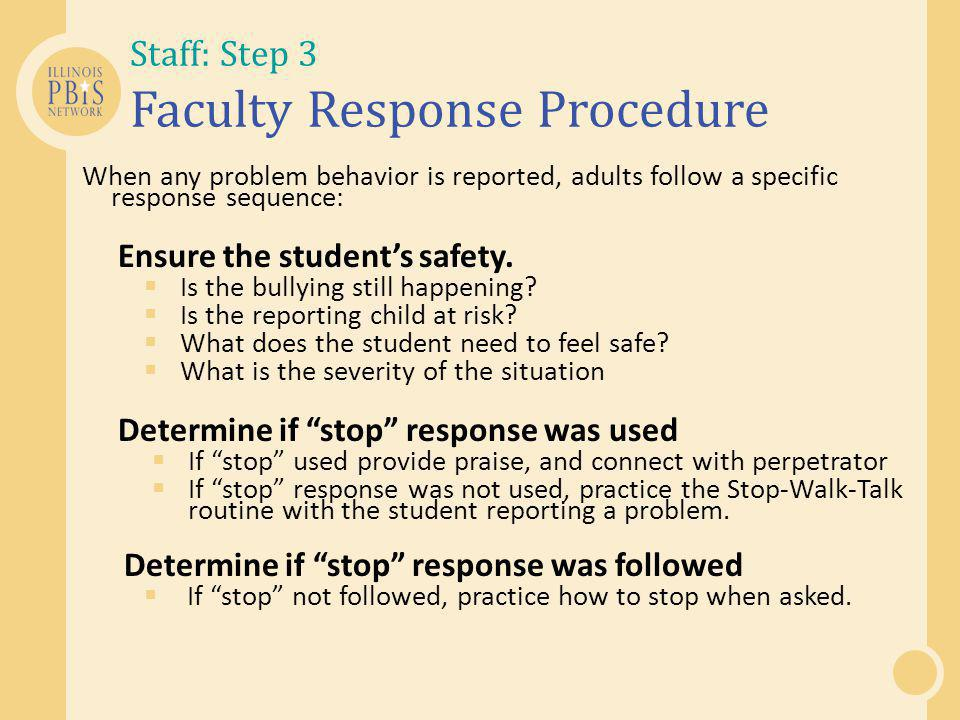 Staff: Step 3 Faculty Response Procedure
