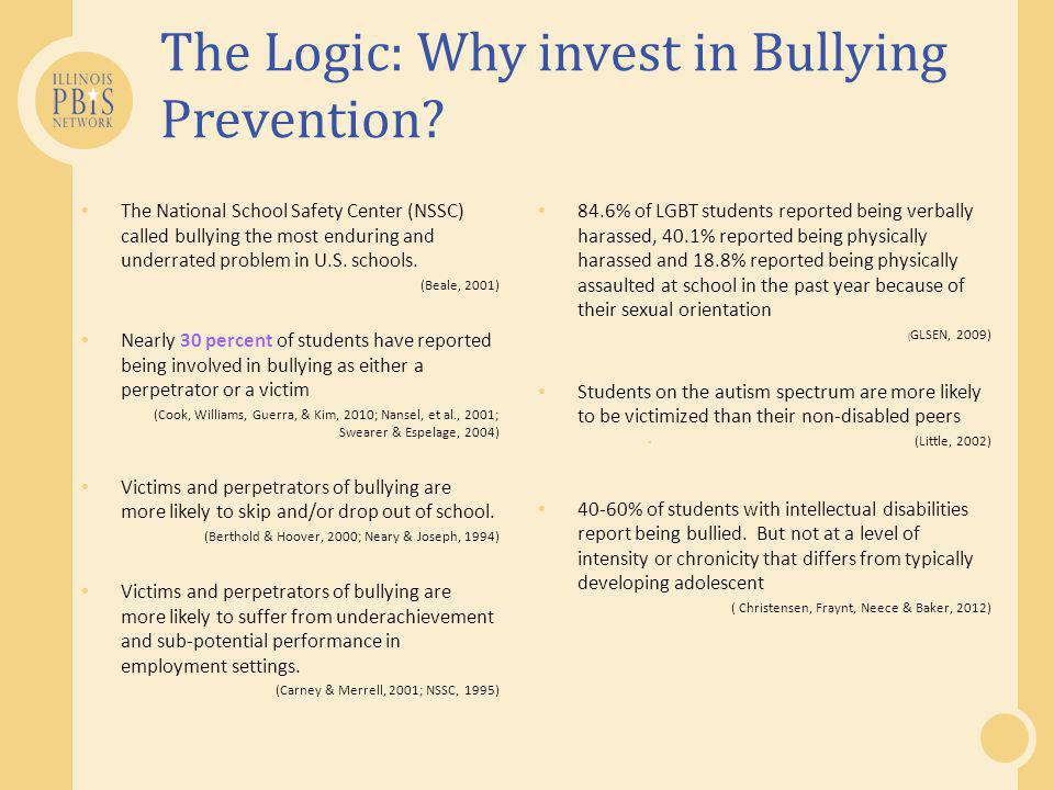 The Logic: Why invest in Bullying Prevention