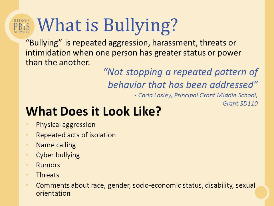 What is Bullying What Does it Look Like