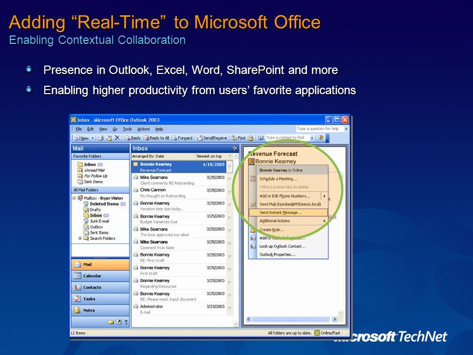 Adding Real-Time to Microsoft Office Enabling Contextual Collaboration