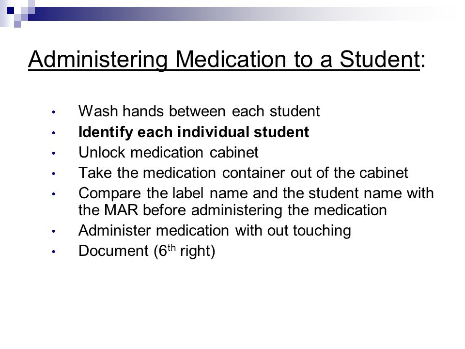 Administering Medication to a Student: