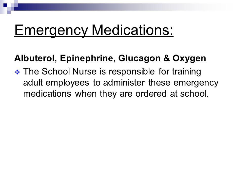 Emergency Medications: