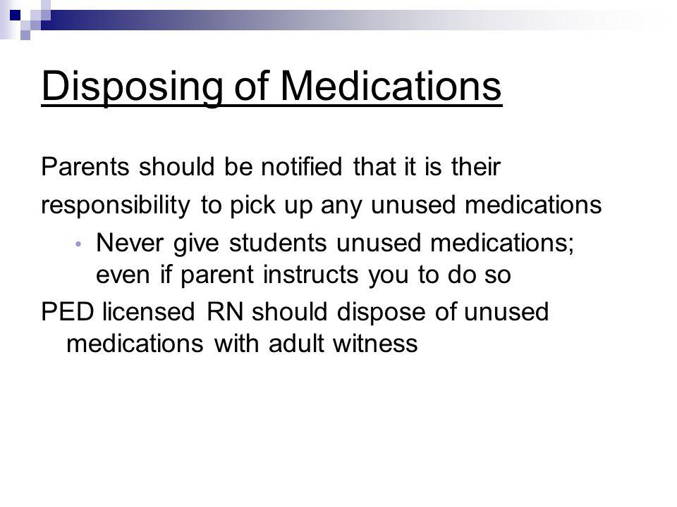 Disposing of Medications