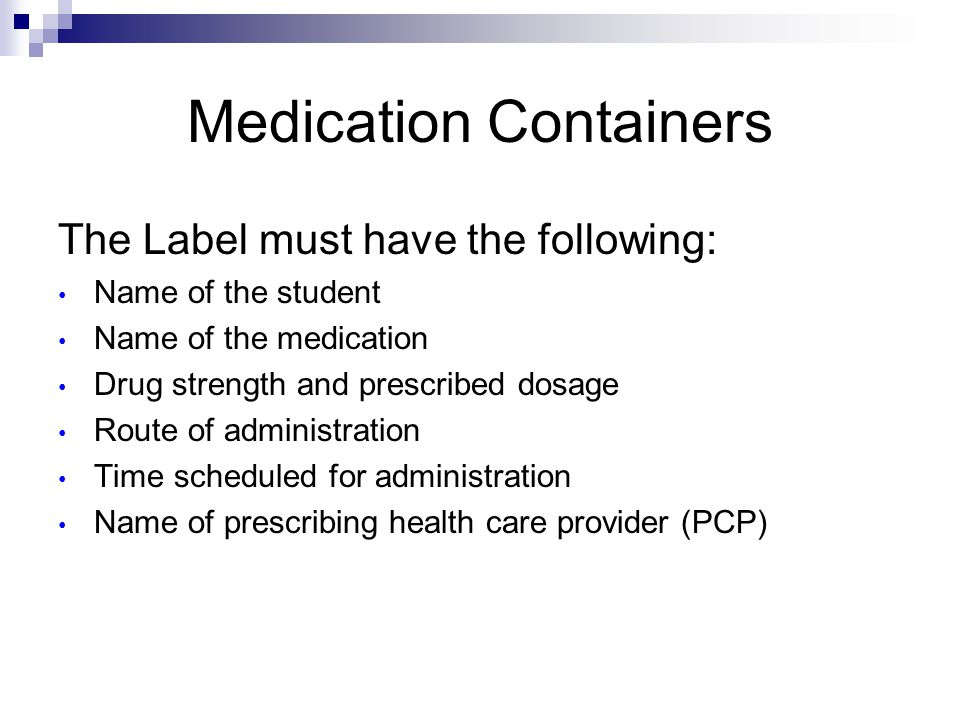 Medication Containers