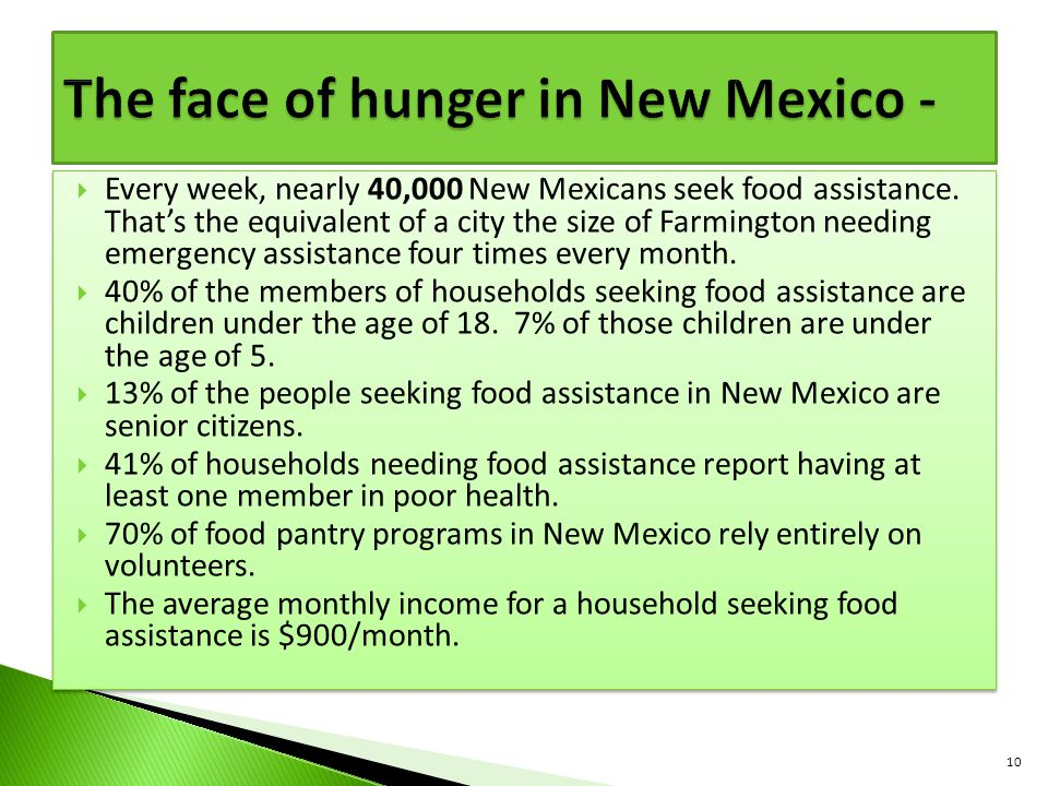 The face of hunger in New Mexico -