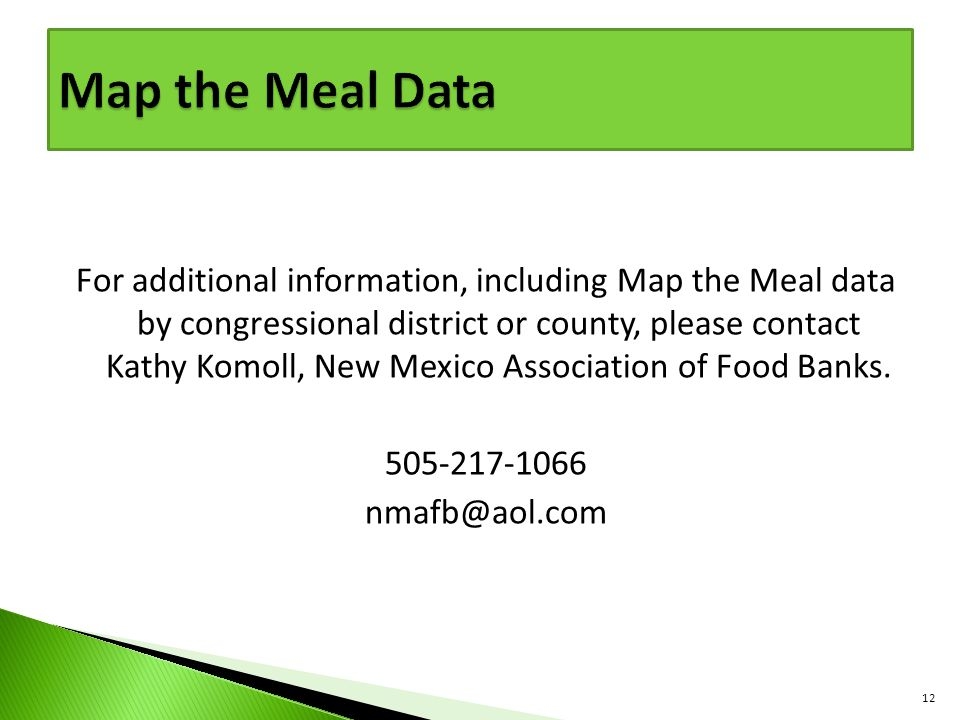 Map the Meal Data