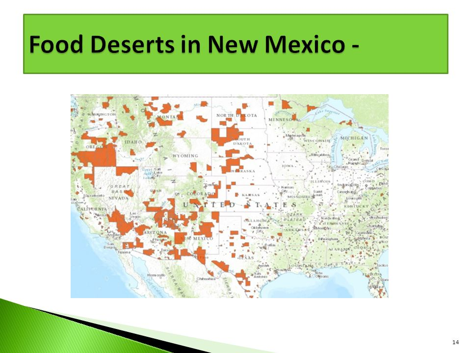 Food Deserts in New Mexico -