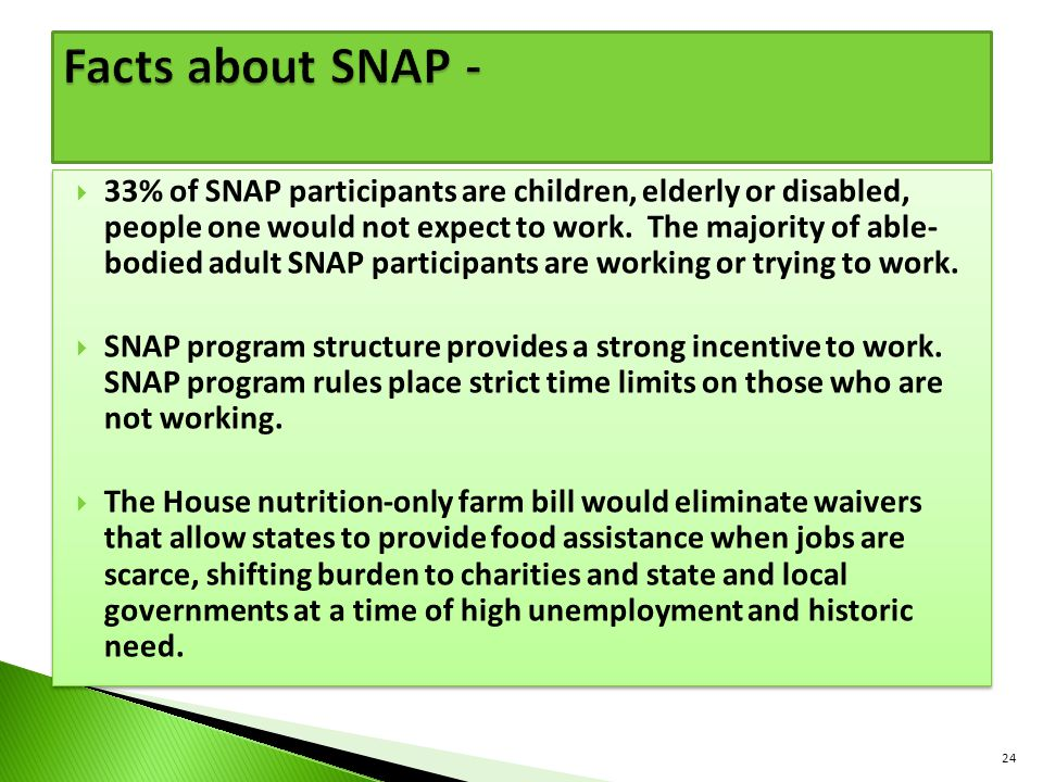 Facts about SNAP -