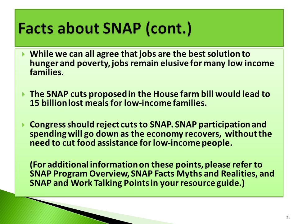 Facts about SNAP (cont.)