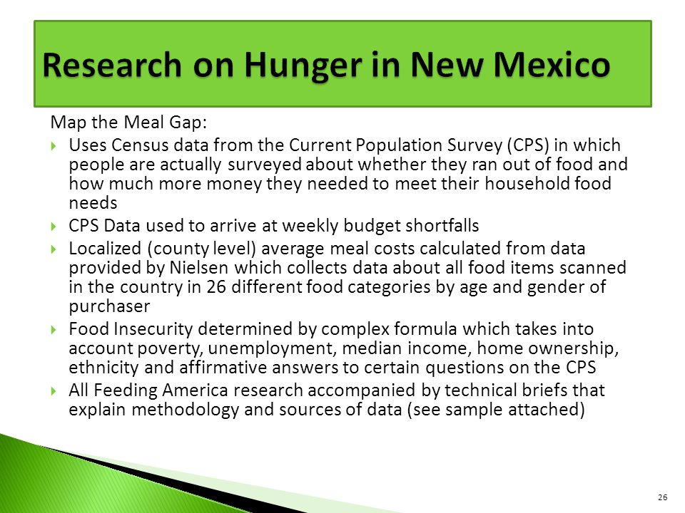 Research on Hunger in New Mexico