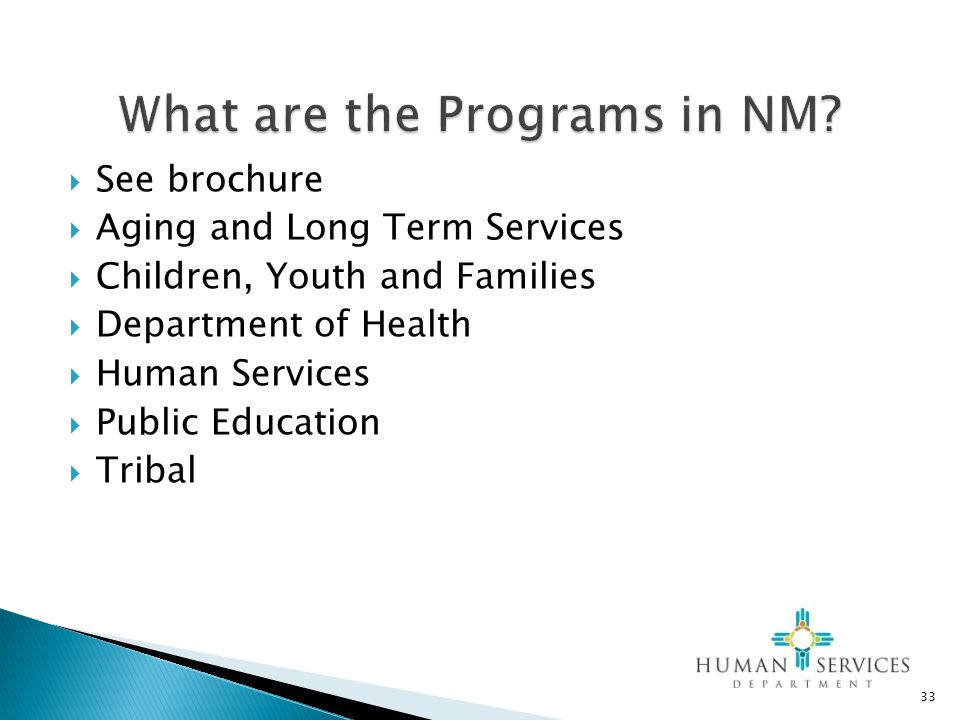 What are the Programs in NM