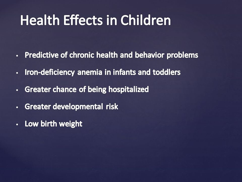 Health Effects in Children